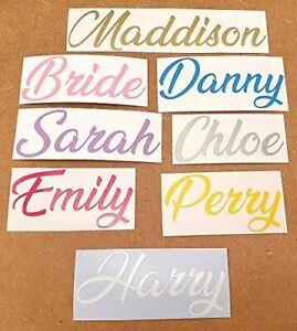 Personalised Custom Name Word Letter - Vinyl Decal Sticker - Cars Bottle Labels