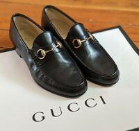 Gucci Black Leather Horsebit Loafers Men's Size 42.5 EU 9 US