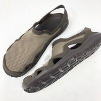 Crocs Men's Size 10 Swiftwater Mesh Wave Sandal Water Shoe Brown New