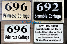 House Door Signs Plaque House Number Name Personalised Gold Silver Black Ali A6