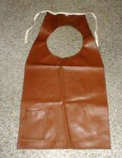 """Vintage Leather-Like Naugahyde Painters Artist's Apron 32""""x16"""" Made in Usa Pc"""