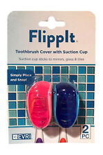 Evriholder Flippit Toothbrush Holder/Cover with Suction Cup