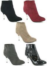 Women's Textile Zip Ankle Boots