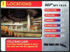 Volcano Lair #7 Locations 007 Spy Files 2002 James Bond Trade Card (C1858)