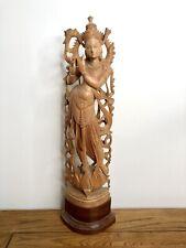 More details for vintage figurine, wooden figurine, sandal wood, mahogany basement, statue, hindu