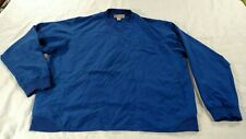 Duluth Trading Company V-Neck Pullover Golf Wind Jacket Mens XL Blue Polyester