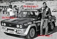 Markku Alen Fiat 131 Abarth Winner 1000 Lakes Rally 1976 Photograph 2