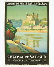CHÂTEAUX DE SAUMUR, Original Travel Poster, Constant Duval, 1924