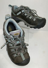 Keen Women's Size 8.5 Dry Waterproof Hiking Trail Shoes Brown Leather Lace Up