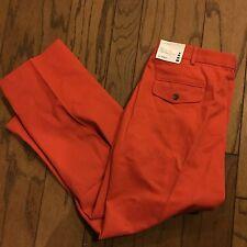 """NEW Lands' End Mens Dress/causal  Pants 38 """"harvest Orange"""""""