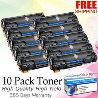 10PK 83A CF283A Bk Toner Cartridge For HP LaserJet Pro M127fn M127fw M125nw MFP