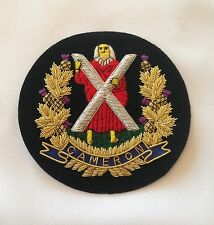 Cameron Highlanders Blazer Badge, Wire Embroidered, Army, Jacket, Military