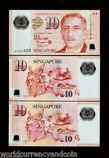 SINGAPORE 10 Dollars 2015 Set POLYMER Hollow & Solid House MUSIC SCOUT UNC NOTE
