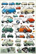 "BMW ""ISETTA COLLAGE"" POSTER-Iso, Velam, Romi, Microcar, Autocarro, 600, 250, 300"