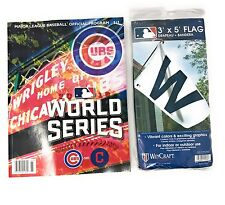 2016 Official MLB World Series Program Plus Official 3' x 5' W Flag