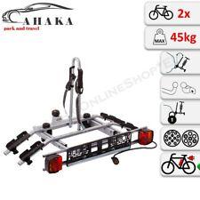 Towbar Mounted 2 Bike Rack Cycle Carrier Tilting Theft Protection 7 pin plug