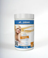 pH-Minus Granulat 1,5 kg Chlor Wasserpflege Schwimmbad Pool Whirlpool