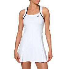 ASICS Club Womens White Tennis Running Training Sports Skirt Sleeveless Dress S