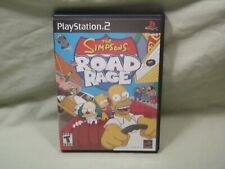 Simpsons Road Rage (Sony PlayStation 2, 2001) CIB Complete PS2 - Black Label
