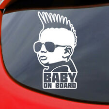 Baby on Board Car Sticker Decal Vinyl Window Funny Safety Sign Child Bumper Punk