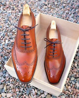 New Handmade Men American Luxury Brogues Leather Dress Shoes, Männerschuhe
