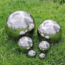 Ordinaire Silver Stainless Steel Garden Mirror Sphere Ornament Gazing Balls   7 Sizes