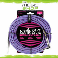 Ernie Ball 25ft Braided Purple Straight/Angle Guitar Cable - 6069 Lead