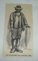 1885 magazine engraving ~ SON OF SPOTTED TAIL, Carlisle, 1884 ~ Indian