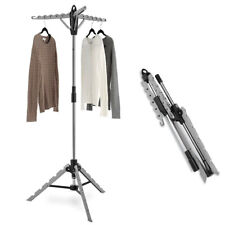 Portable Tripod Clothes Drying Rack Indoor Hanger Collapsible Garment Dry Stand