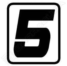 "N400/5 BARRACUDA 1 ADESIVO ""5"" per KIT TABELLE PORTA NUMERO per DUCATI SCRAMBLER"