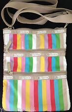 NWT LeSportsac Kasey Everyday crossbody messenger bag Purse lucky stripe $38