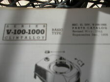 clinton parts list,clinton v-100-1000 illustrated clinton engine 1963pr