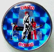DAVID BOWIE 'SINGING ' VINTAGE CRYSTAL ENAMEL BADGE