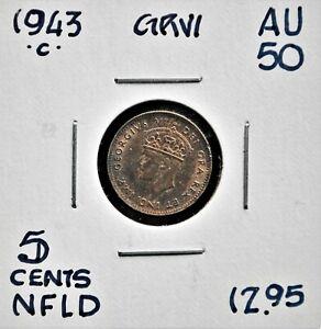 1943-c Newfoundland 5 Cents