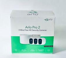 Arlo Pro 2 Bundle 3 Wire-Free HD Security Camera Indoor Outdoor VCS3000C-100NAS