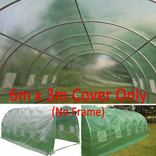6mx3m Polytunnel COVER 12 Window. Greenhouse Pollytunnel Poly Tunnel Cover Only!