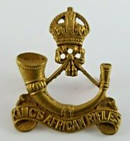 Kings African Rifles OR's Military Cap Badge - 2 lugs to rear - KC Firmin London