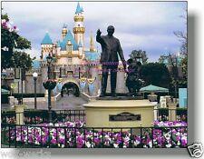 Disneyland Partners Statue Castle 8 x 10 Professional Walt Disney Mickey Mouse