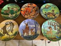 "Walt Disney Bambi Collectors Plates 8""Round First Series Set Of Six"