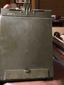 Original WWII US Army Signal Corps Radio Operator OD Green M-167-A Clipboard