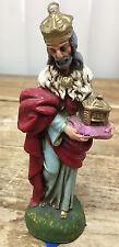 Vintage Nativity Creche King #P Italy Figurine Religious Christmas Papier Mache