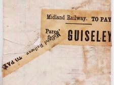 MS2958 1890s GB RAILWAY LBSCR PARCELS Way Bill *Guiseley Station* PARCEL STAMP