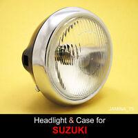 "Suzuki RV90 RV125 RV VAN VAN Headlight 6 V. + Black Steel Metal Bucket Case 6"""