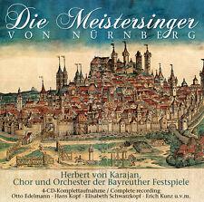 Die Meistersinger Von Nürnberg von Richard Wagner mit Herbert von Karajan 4CDs