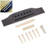1 Set Rosewood Acoustic Guitar Bridge + Bridge Pins / Saddle / Nut Saddle Parts