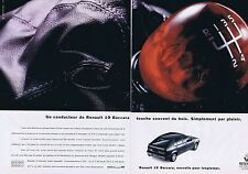 PUBLICITE ADVERTISING 045 1993 RENAULT 19 Baccara   (2 pages)