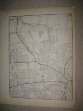 ANTIQUE 1931 WEST & HARTFORD CITY BLOOMFIELD HARTFORD COUNTY CONNECTICUT MAP NR