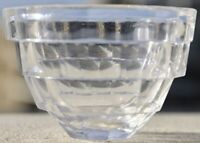 "Vintage Retro Kosta Boda FULL LEAD Crystal ""Opus"" Block Pattern Bowl/Dish"