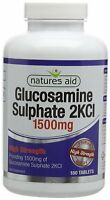 Natures Aid Glucosamine Sulphate 2KCI High Strength 1500 mg 180 Tablets