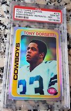 TONY DORSETT 2010 Topps Chrome REFRACTOR /99 Rookie Card RC 1978 Reprint PSA 10